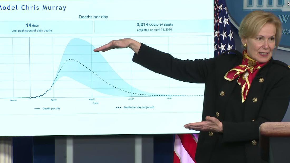 Birx mengatakan penurunan di AS mati proyeksi adalah karena jarak sosial
