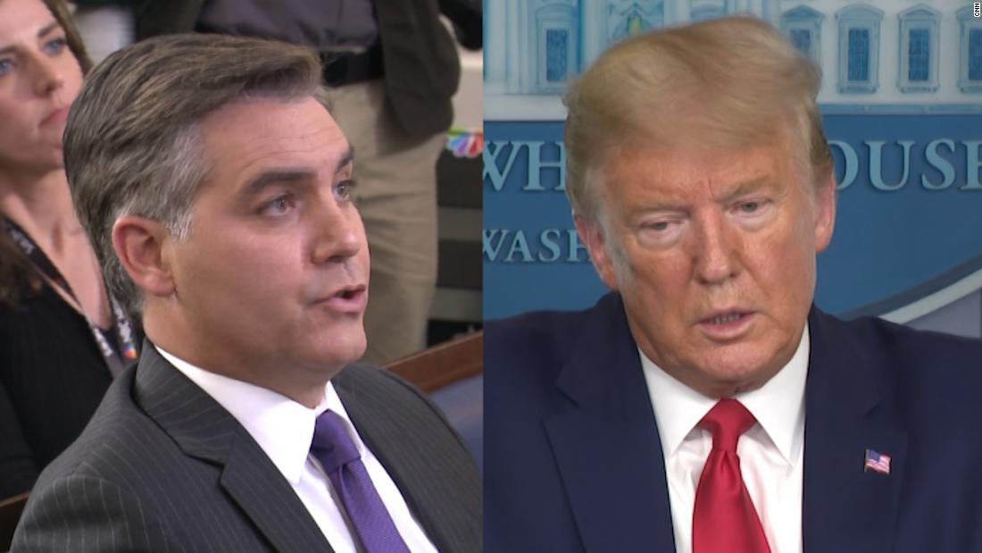 Acosta Trump: Ini mungkin sebuah pertanyaan yang tidak nyaman ...