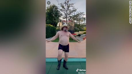 Jack Black's shirtless quarantine dance takes TikTok by storm