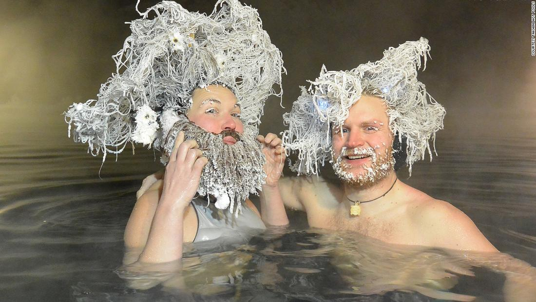 Outlandish hair freezing contest offers much-needed laughs
