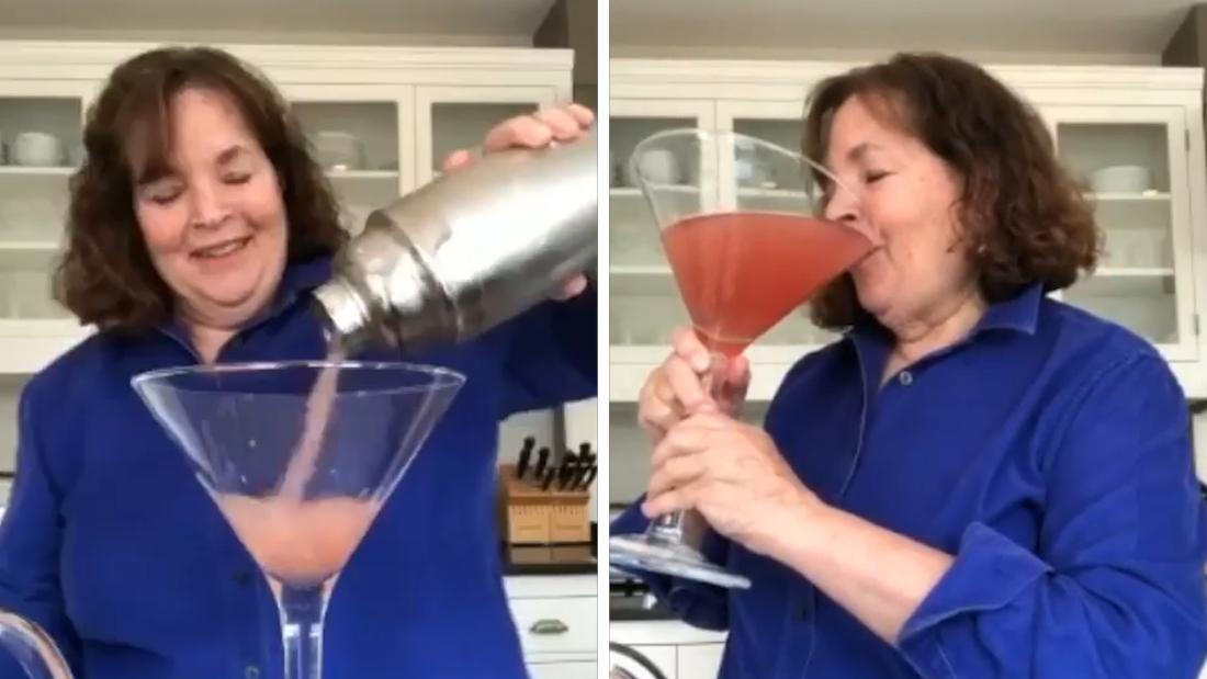 Barefoot Contessa Ina Garten makes a giant cocktail for one