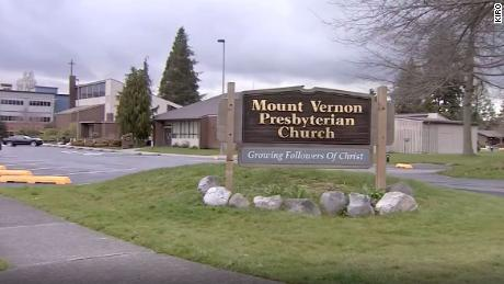 The choir practices at Mount Vernon Presbyterian Church in Mount Vernon, Washington.