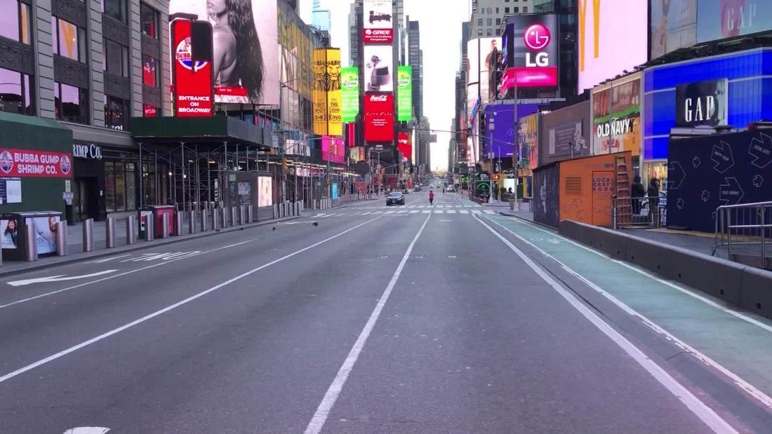 'Seperti sebuah film bencana:' Lihat apa Times Square sepertinya sekarang