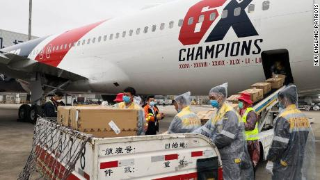 New England Patriots team plane flying 1.2 million N95 masks from China to help ease coronavirus shortages