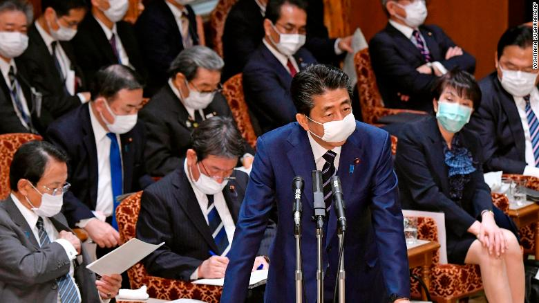 Anger as Japanese Prime Minister offers two cloth masks per family while refusing to declare coronavirus emergency