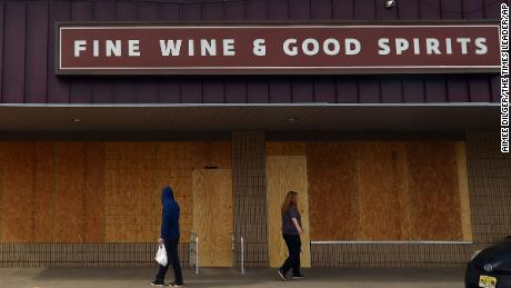 A Fine Wine and Good Spirit brick and mortar store in Pennsylvania boarded up from closures across the state