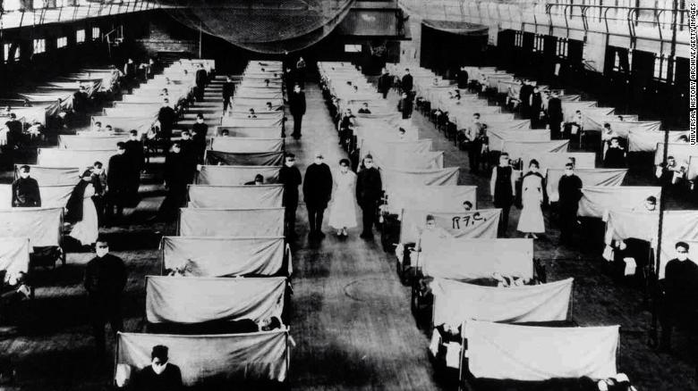 I magazzini sono stati convertiti per ospitare le persone infette messe in quarantena.