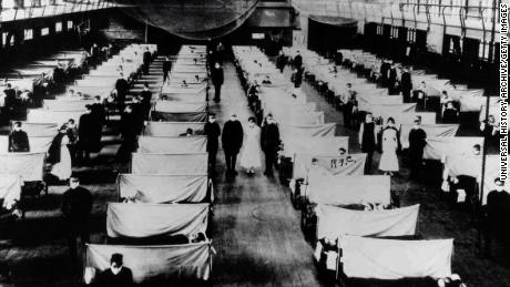 Warehouses were converted to house the infected people quarantined.