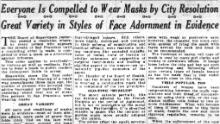 Un articol din Cronica din San Francisco din 25 octombrie 1918.