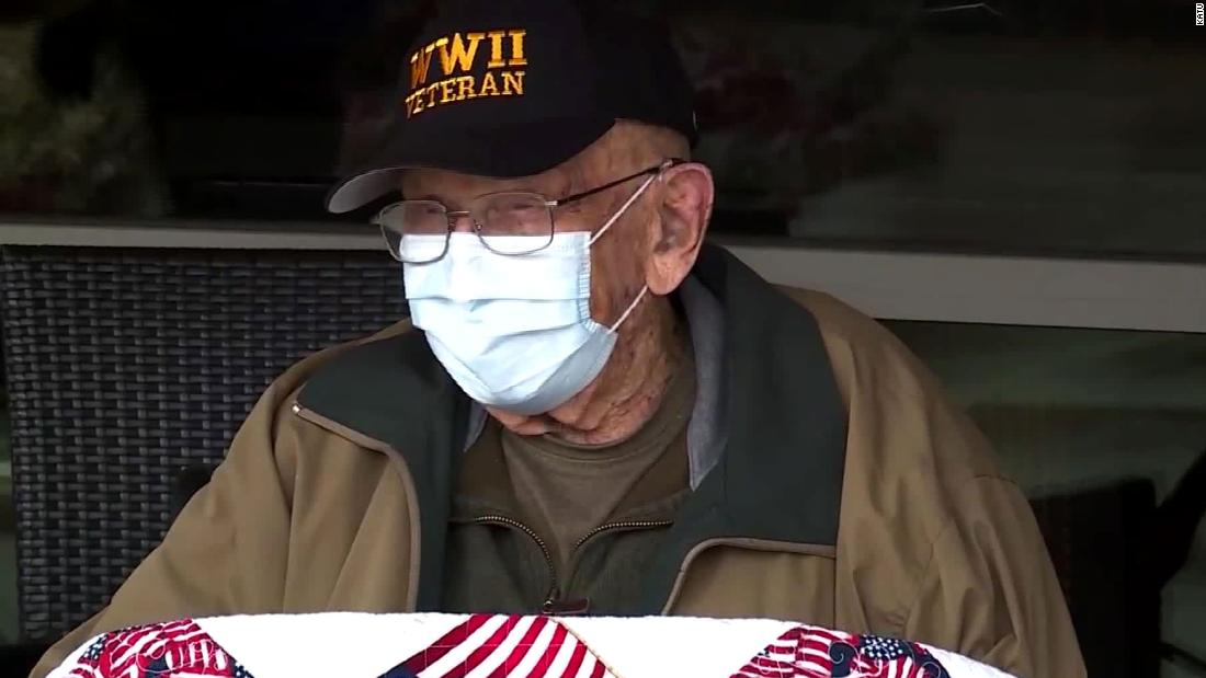 WWII vet celebrates beating Covid-19 and turning 104 in the same week