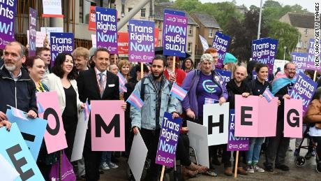 James Morton (far right), the manager of the Scottish Trans Alliance, says reform will create a more equitable society.