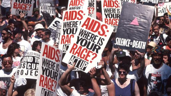 Act Up Demo protesting AIDS epidemic, New York, June 1994.