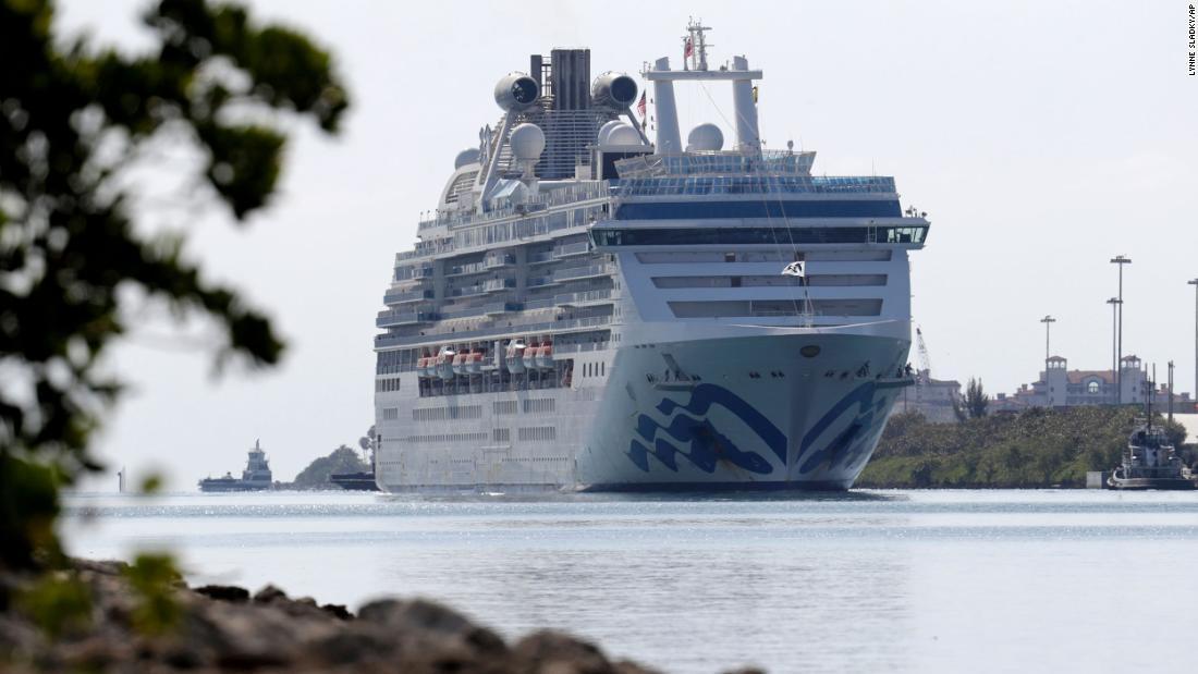 Coral Princess dermaga di Miami dengan 2 orang tewas dan beberapa sakit coronavirus