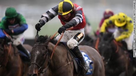 Potters Corner, ridden by Jack Tudor, powered to victory in the Welsh Grand National at Chepstow last December and was looking to complete the double at Aintree.