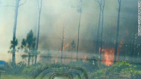 Firefighters were called to contain a blaze in Brevard County, Florida, last weekend.