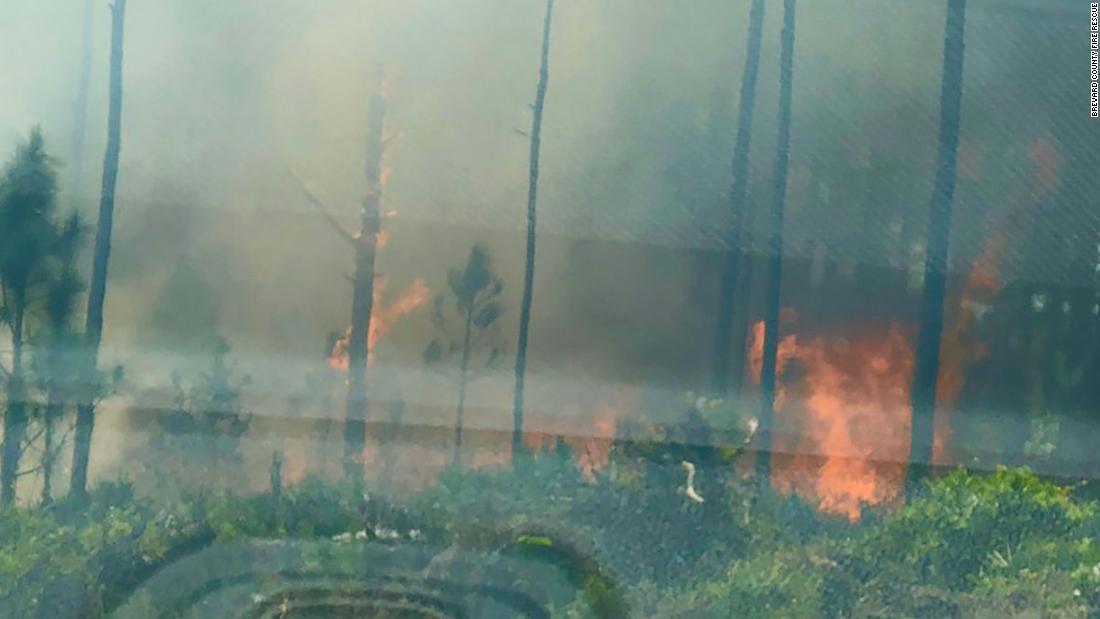Jenis kelamin mengungkapkan pihak dinyalakan 10 hektar sikat api di Florida, para pejabat mengatakan api