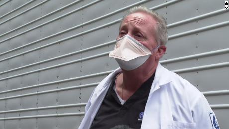 Michael McGillicuddy, morgue supervisor, says the pandemic frightens him.
