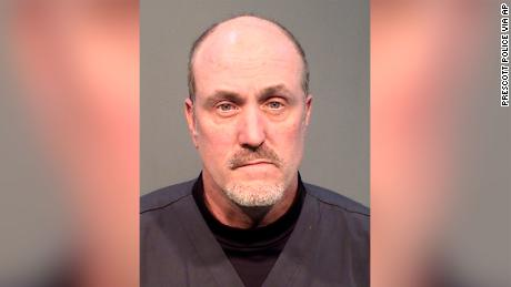 Keith Brown was arrested after being accused of stealing protective equipment and cleaning supplies, Prescott Police Department officials said.