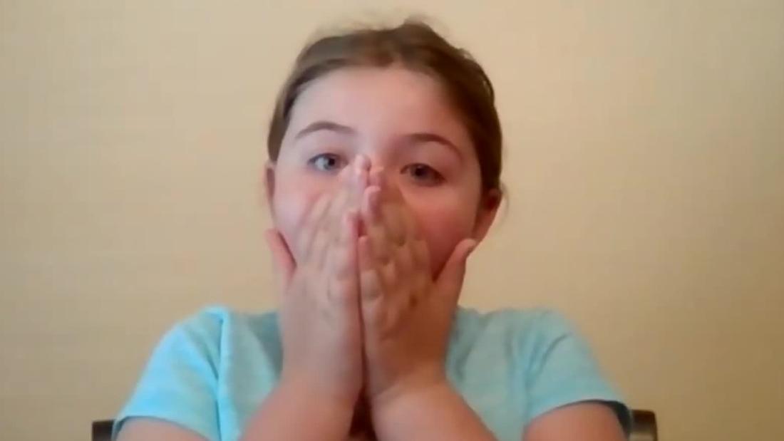 Lin Manuel συναντά 9-year-old fan πάνω Ζουμ κλήση