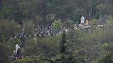 Wuhan residents had been unable to bury their loved ones for months, as authorities banned funerals and shut cemeteries to cut coronavaris risks.