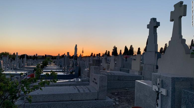 Cemeteries in Spain say they're burying two or three times as many people as usual.