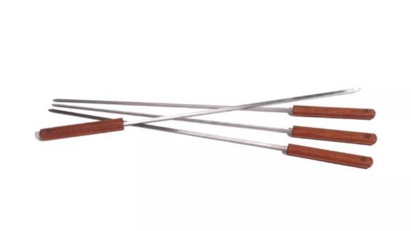 Outset 4-Pack Rosewood Stainless Steel Skewers