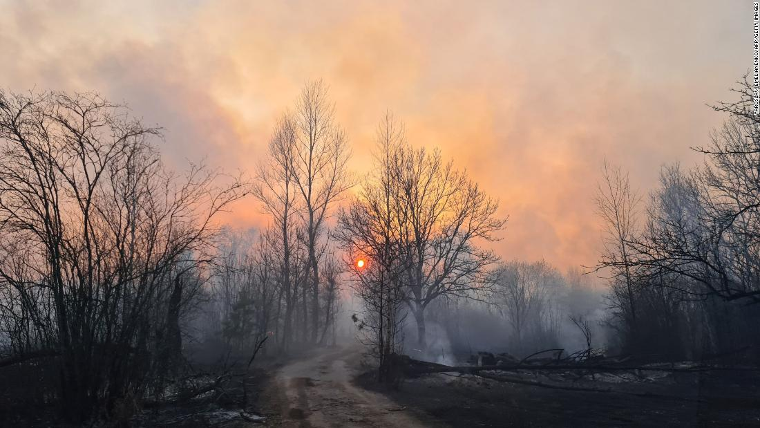 Chernobyl forest fire causes radiation levels to spike
