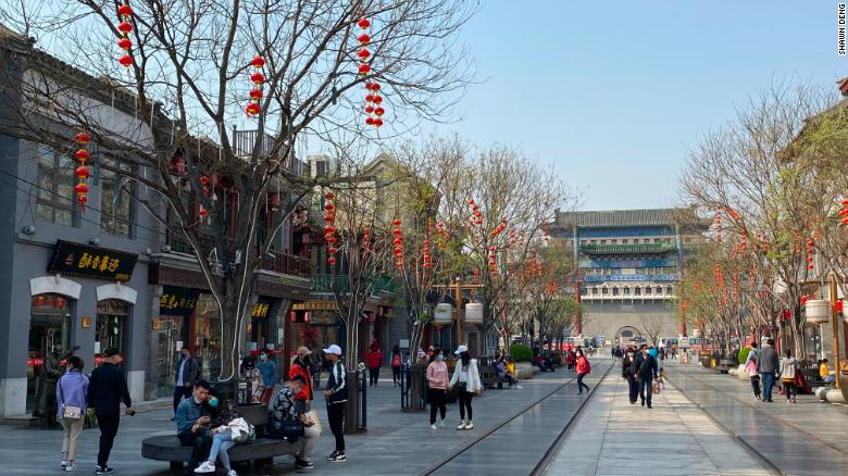 Crowds gather in Beijing to celebrate the Qingming Festival on April 6, after weeks of coronavirus fears.