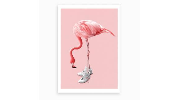 """Sneaker Flamingo"" Art Print by Jonas Loose"