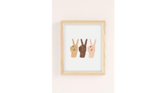 """Peace Hands"" Art Print by Rachel Szo"
