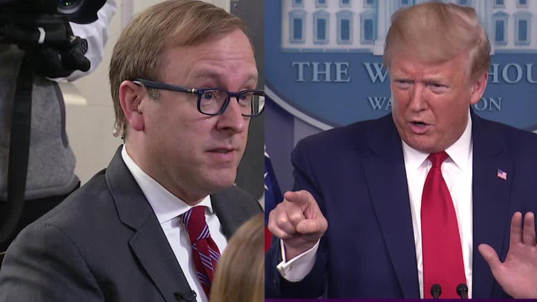 Trump memarahi wartawan ketika ditanya tentang laporan oleh pemerintahan sendiri