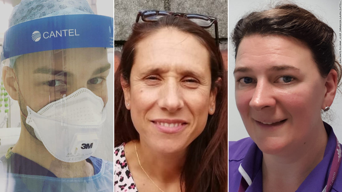 Die Krankenschwestern riskieren es alle auf der Frontlinie des britischen Corona-Virus-Ausbruch