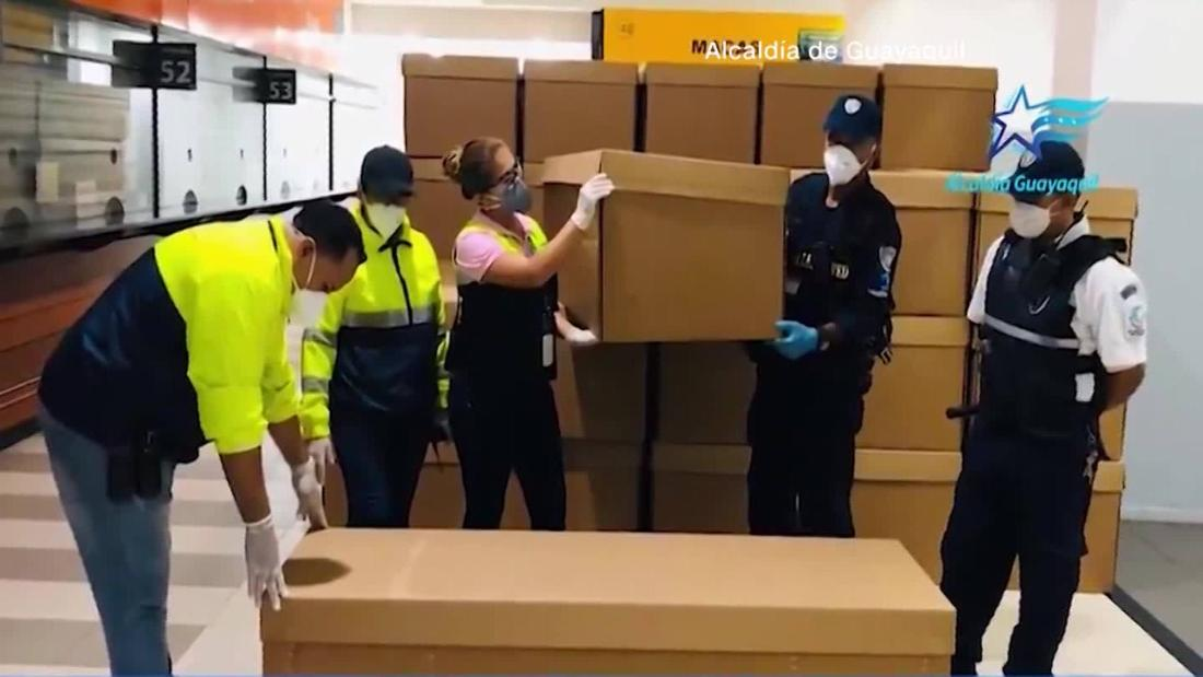Ecuador is using cardboard coffins to cope with Covid-19
