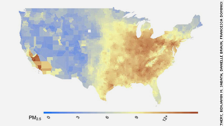 US county level average of PM2.5 concentrations (2000- 2016) Citation: Exposure to air pollution and COVID-19 mortality in the United States. Xiao Wu, Rachel C. Nethery, Benjamin M. Sabath, Danielle Braun, Francesca Dominici. medRxiv 2020.04.05.20054502