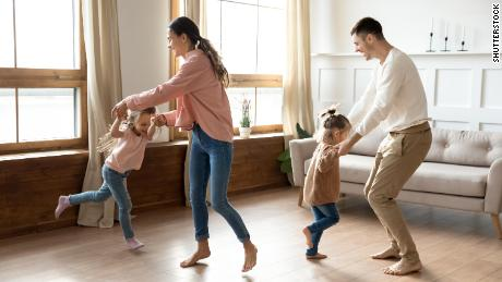 A family dance party can boost your mood and relieve anxiety.