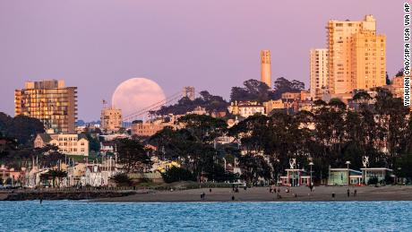 The April pink supermoon in pictures