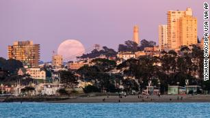 April's pink supermoon in pictures -- from California to Krakow