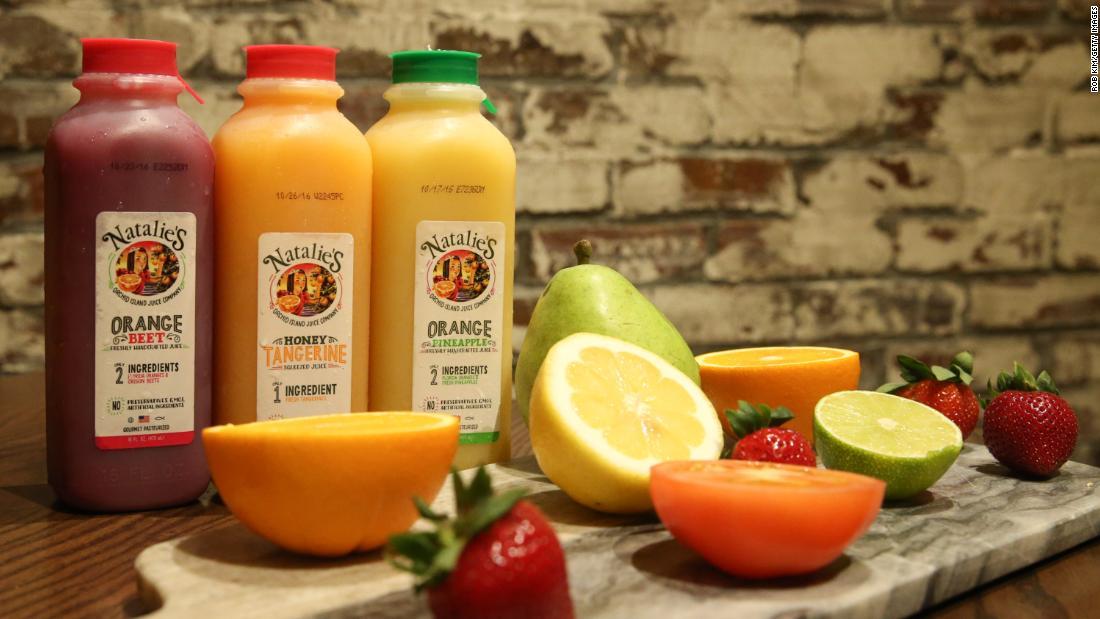 Verkauf von Orangensaft in die Höhe Schießen