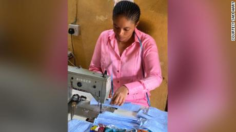 Queen Duruibe runs her own fashion store in Aba.