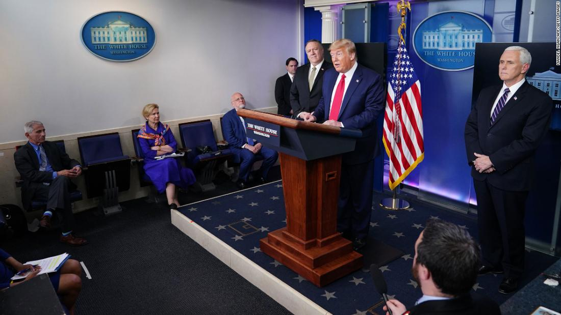 Fact check Trump offers two dangerous falsehoods in a largely straightforward briefing