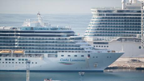 The Costa Luminosa docked in Marseille, France last month after traveling from Florida with thousands of passengers.