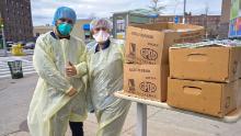 Ces agents de santé de Boston ont soutenu leurs homologues de New York en leur envoyant des repas pendant la lutte contre le coronavirus