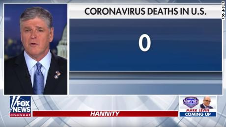Fox News host Sean Hannity told viewers in a Feb. 27 broadcast that the coronavirus had yet to kill a single American.