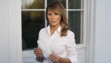 Melania Trump encourages face mask use with photo of herself