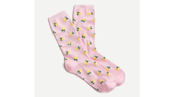 Trouser Socks in Little Lemons Print