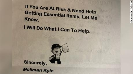 Kyle West made notes to bring to his customers to facilitate supply requests.