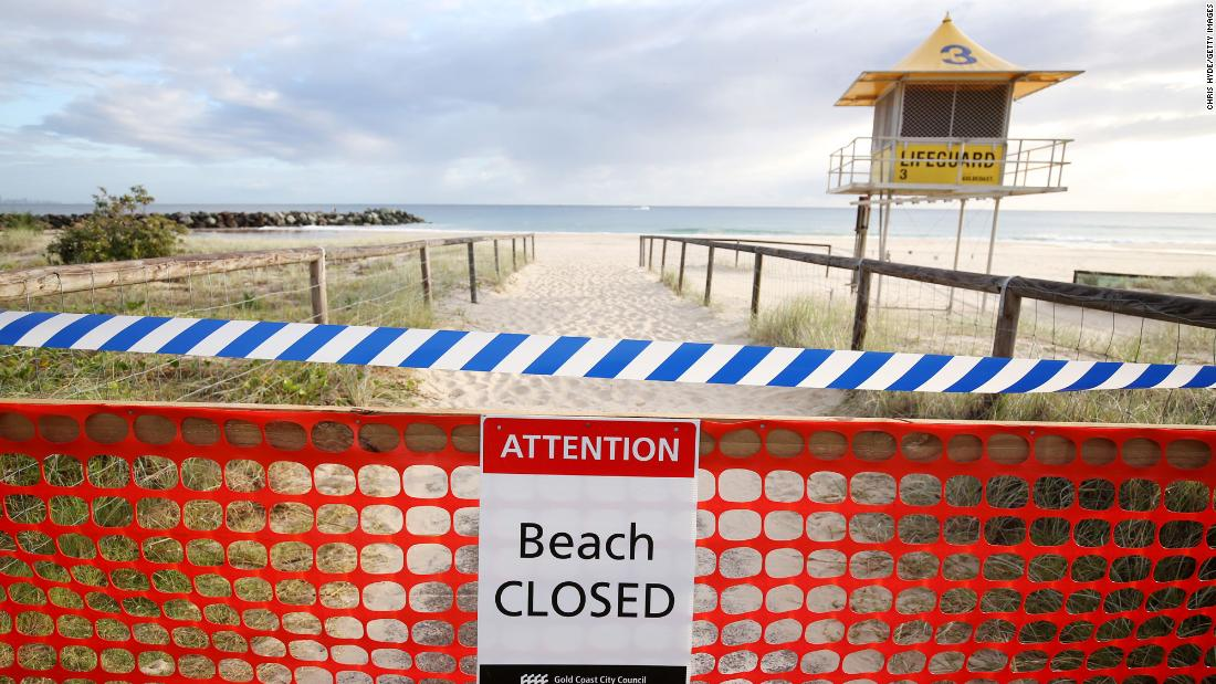 Australia closes beaches amid Covid-19 lockdown
