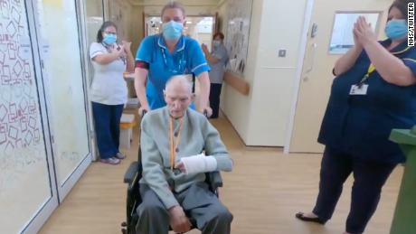 Albert Chambers, who will be 100 in July, fought off coronavirus, with help from the team at Tickhill Road Hospital in northern England.