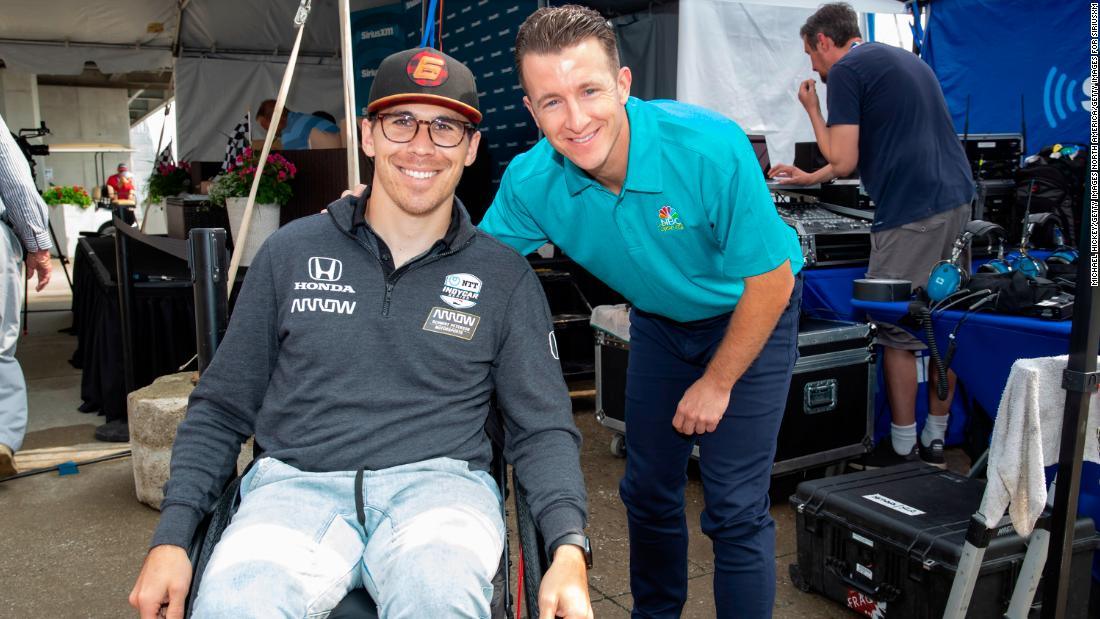 Paraplegic racing drivermakes return to the track. From his basement