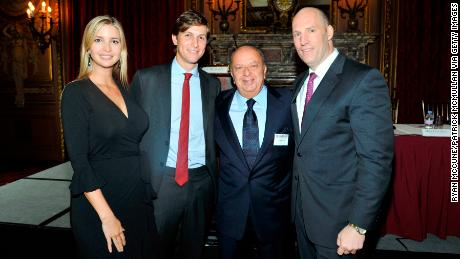 Ivanka Trump, Jared Kushner, Stanley Chera and Rob Stuckey attend The New York Observer Hosts Masters of Real Estate at The Metropolitan Club on September 21, 2011 in New York City.